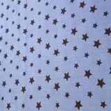 Blå med svarta stjärnor